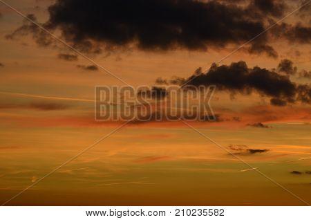 background of sunset southern Bohemia Czech Republic