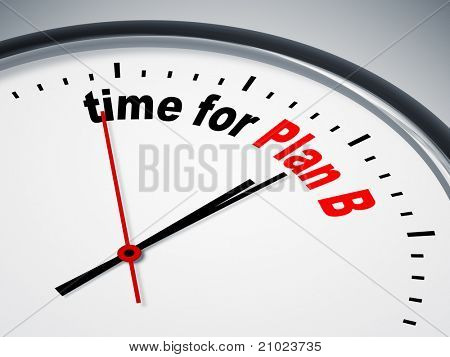 An image of a nice clock with time for Plan B