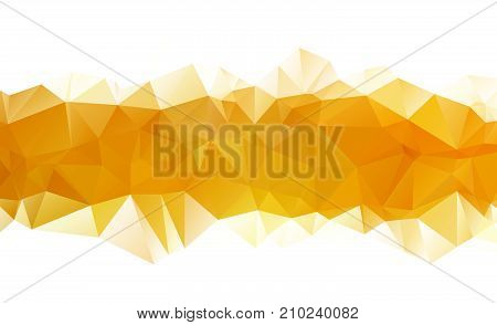 Ight Yellow Vector Pattern. Triangular Template. Geometric Sample. Repeating Routine With Triangle S