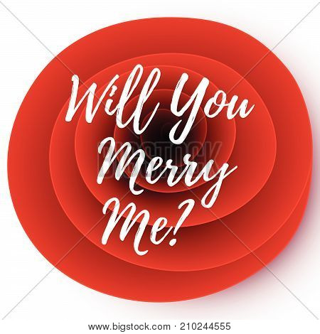 Will you marry me vector card on a bright floral background.