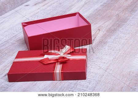 Open gift box, isolated on the white background.