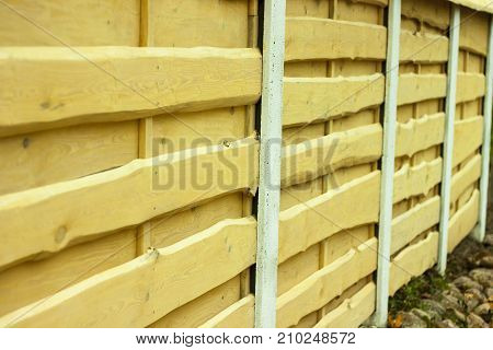 Wood texture. Horizontal boards. Fence and fence made of natural wood and light boards