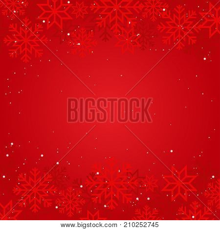 Winter background with snowflakes and dots for xmas and New year design.