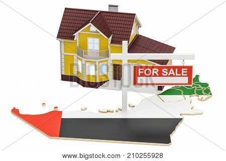 Property for sale and rent in United Arab Emirates concept 3D rendering