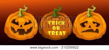 carve pumpkins. trick or treat. horizontal festive halloween background