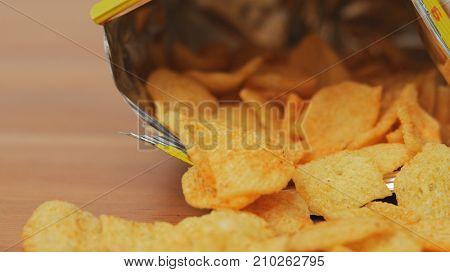 Cheese crisp in package