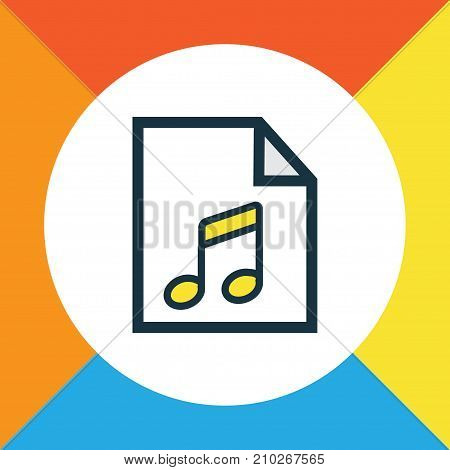 Premium Quality Isolated List Element In Trendy Style.  Soundtrack Colorful Outline Symbol.