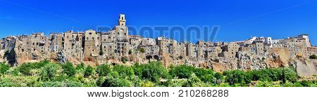 City Of Pitigliano In The Province Of Grosseto In Tuscany, Italy