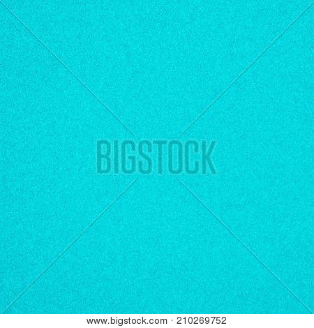 Abstract Grunge Decorative Cyan Texture. Granular Christmas Paper Background With Copy Space. Bue Textured background for design. Square Wallpaper