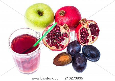 Different fruit for juice or drink. Studio Photo