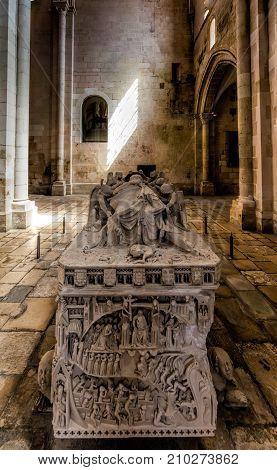 Medieval Tomb Of Ines De Castro