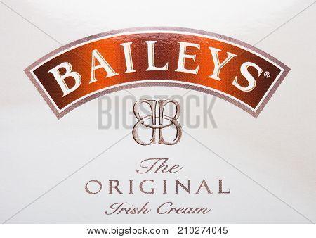 London, Uk - October 20, 2017: Logo Of Baileys Irish Cream.irish Whiskey- And Cream-based Liqueur, M