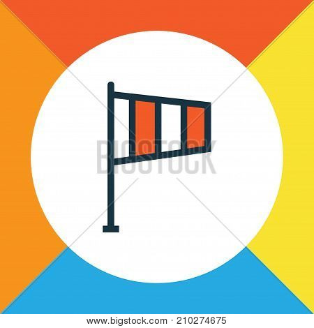 Premium Quality Isolated Flag Element In Trendy Style.  Wind Vane Colorful Outline Symbol.