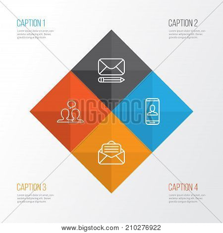 Communication Icons Set. Collection Of Conversation, Privacy Information, Read Message And Other Elements