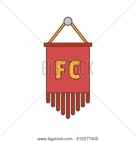 Soccer pennant icon. Cartoon illustration of Soccer pennant vector icon for web isolated on white background