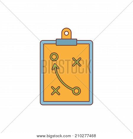 Soccer strategy tactic plan icon. Cartoon illustration of Soccer strategy tactic plan vector icon for web isolated on white background