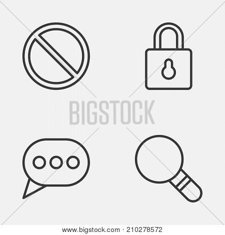Web Icons Set. Collection Of Safeguard, Research, Obstacle And Other Elements