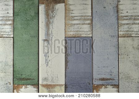 Old grunge wood panels used as background. Brown wood texture. Abstract background empty template Rustic weathered barn wood background.