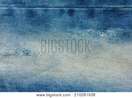 Denim jeans background. For design View from the top