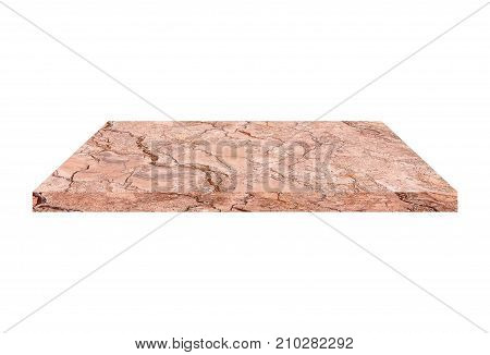 Marble slabs isolated on a white background.