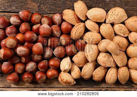 hazelnut and almond