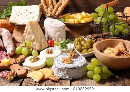 assorted cheese and bread