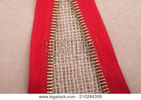 Closeup Of A Colorful  Zipper