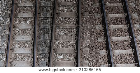 The length of the railway track .