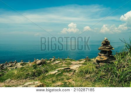 Landscape of the mountain and sky background.