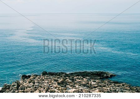 Landscape of the sea and sky background.