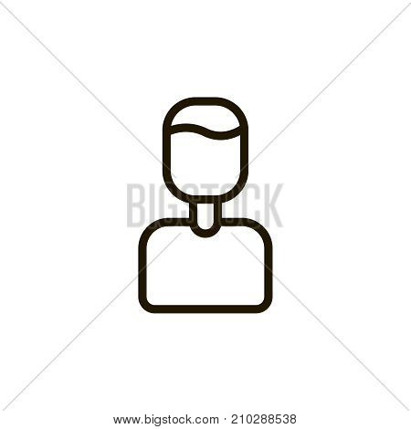 User icon flat icon. Single high quality outline symbol of people for web design or mobile app. Thin line signs of chat for design logo, visit card, etc. Outline logo of profile