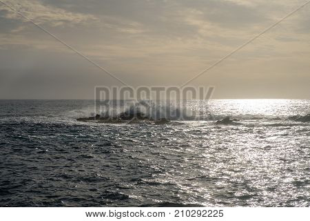 view on atlantic ocean. Tenerife island. atlantic ocean. outdoor shot.