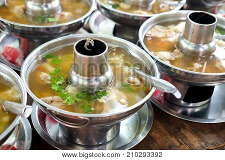 Clear Soup In Hot Pot Ready To Eat