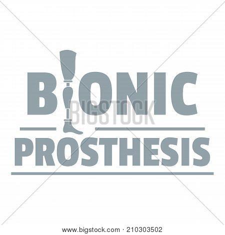 Bionic prosthesis logo. Simple illustration of bionic prosthesis vector logo for web