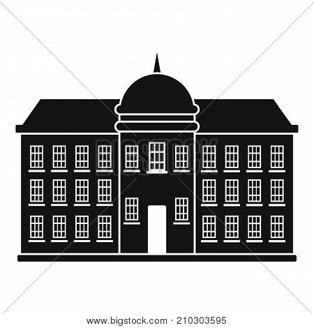 Capital building icon. Simple illustration of capital building vector icon for web