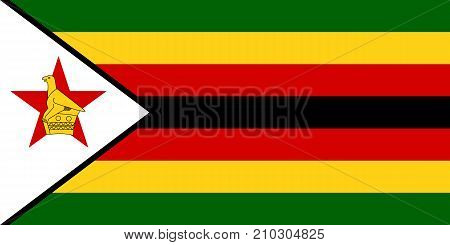 The Official vector flag of Zimbabwe .