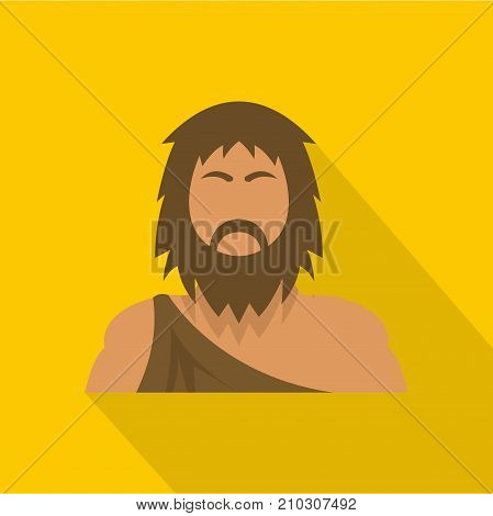 Neanderthal icon. Flat illustration of neanderthal vector icon for web