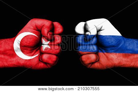 Conflict Between Turkey And Russia - Male Fists