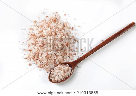 Spoon And Isolated Salt