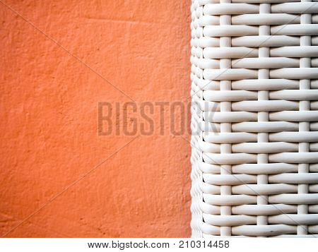 Texture Of Artificial Bamboo Weave Furniture