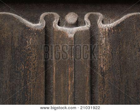 Closeup Of Old Wooden Door
