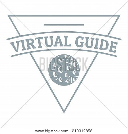 Virtual guide logo. Simple illustration of virtual guide vector logo for web