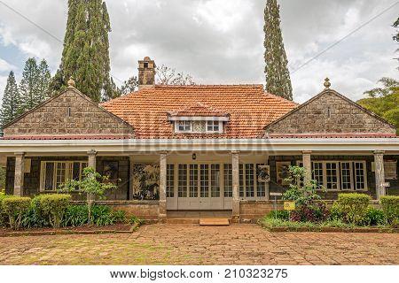 NAIROBI, KENYA - OCTOBER 19, 2014 : Museum of Karen Blixen. Blixen was a Danish author best known for Out of Africa, her account of living in Kenya.