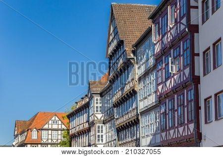 Half-timbered Houses In The Historic Center Of Hannover