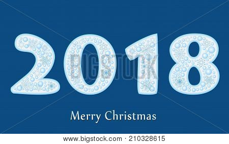 2018 new year creative design for your greetings card