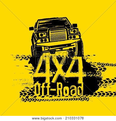 off road hand drawn vector photo free trial bigstock