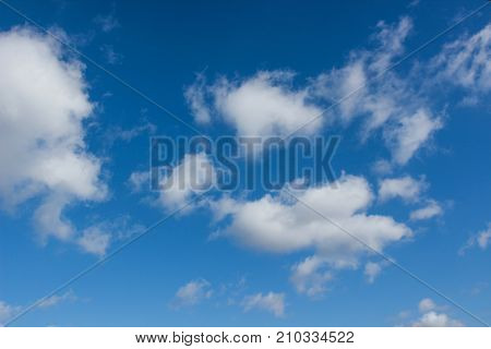 cloudscape with blue sky in sunshine day. poster