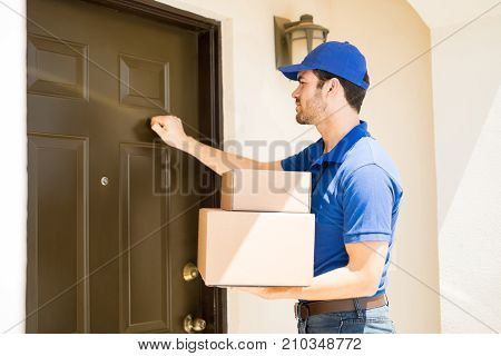 Delivery Guy Knocking On The Door