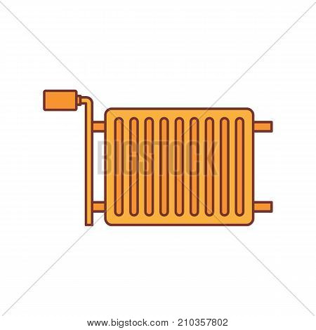 Heating radiator cartoon icon vector illustration for design and web isolated on white background. Heating radiator vector object for label web and advertising