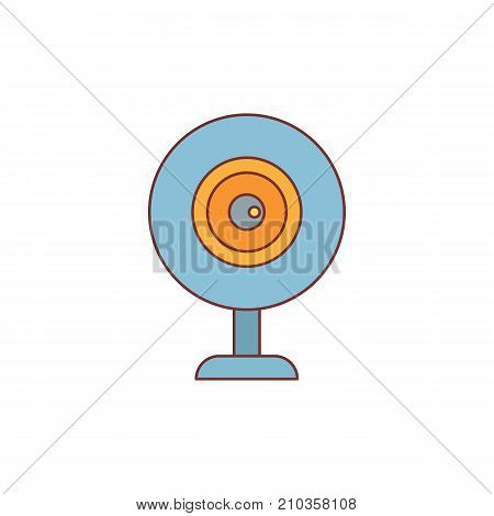 Web camera cartoon icon vector illustration for design and web isolated on white background. Web camera vector object for label web and advertising